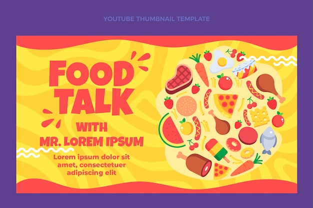 Miniature youtube de nourriture plate