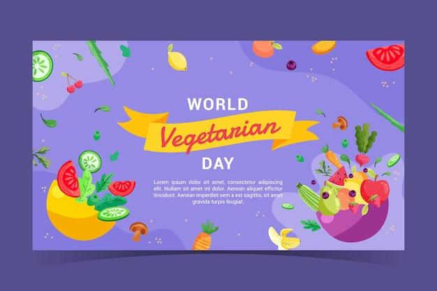 Miniature youtube de nourriture végétarienne design plat dessiné à la main