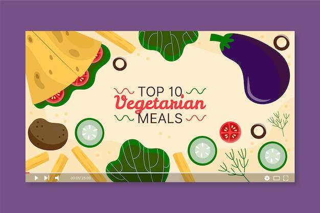 Miniature youtube de repas végétariens dessinés à la main