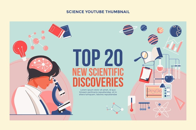 Miniature youtube de science du design plat