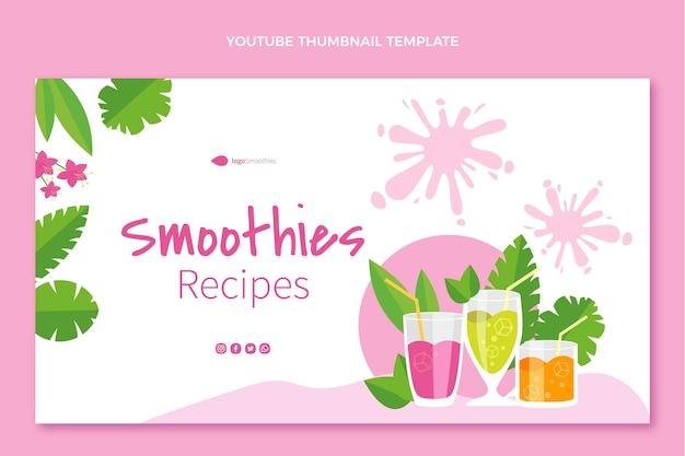 Miniature youtube de smoothies au design plat
