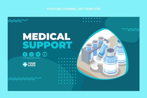 Miniature youtube de support médical design plat