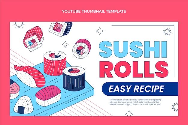 Miniature youtube de sushi plat