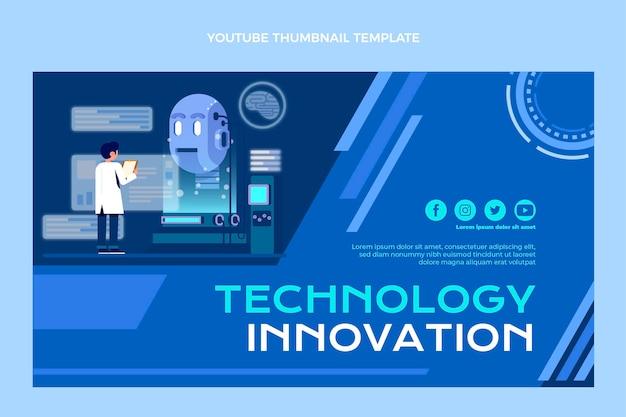 Miniature youtube de la technologie de conception plate