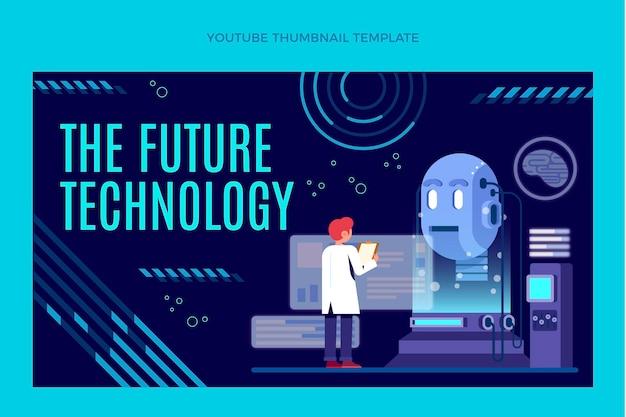 Miniature youtube de technologie minimale plate