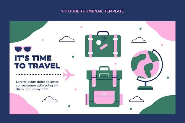 Miniature youtube de voyage design plat