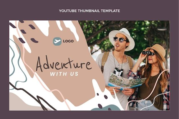 Miniature youtube de voyage à plat
