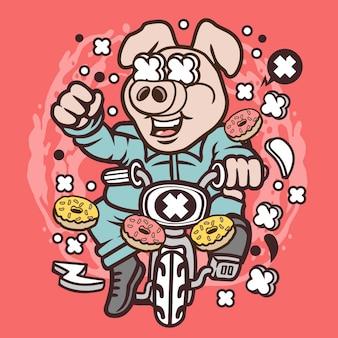 Minibike pig