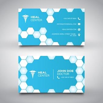 Minimal bleu carte de visite médicale