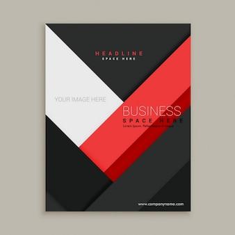 Minimale société commerciale rouge et noir modèle brochure dépliant