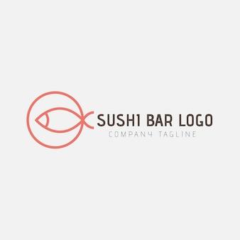 Minimalis sushi logo