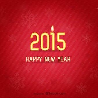 Minimaliste nouvelle carte de l'année
