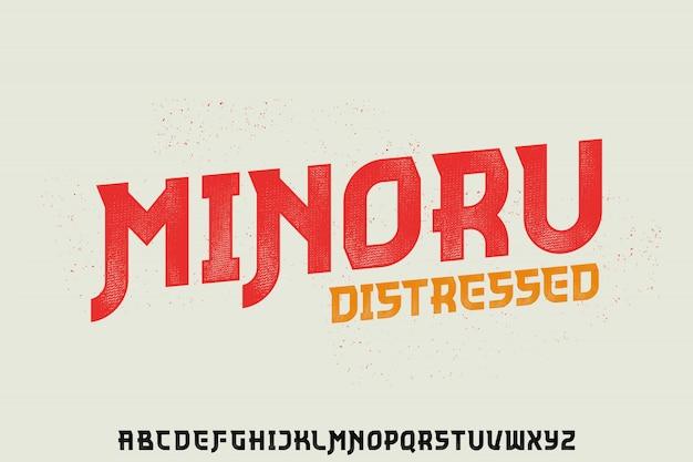 Minoru, forme géométrique police vectorielle typeface alphabet typeset