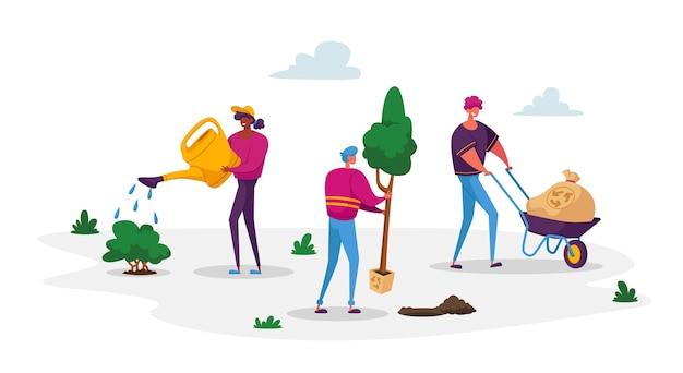 De minuscules personnages prennent soin des plantes pour réduire la pollution atmosphérique