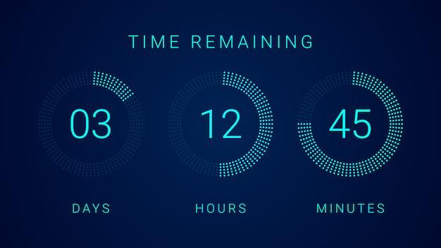Minuterie de compteur d'horloge à compte à rebours numérique