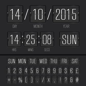 Minuterie de semaine numérique à tableau de bord noir analogique