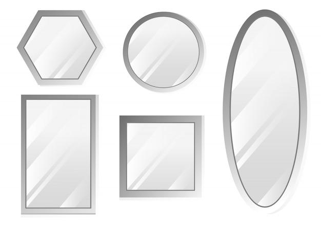 Miroirs sertis de reflets flous