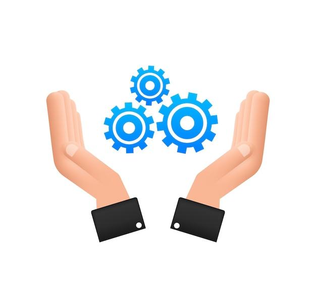 Mise à jour du logiciel système ou concept de mise à niveau avec les mains nouvelle mise à jour de la bannière