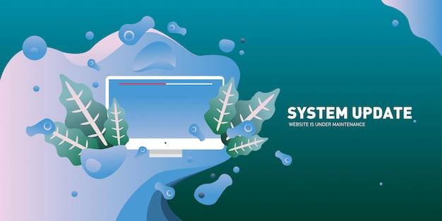 Mise à jour du système et page de destination de maintenance du site web