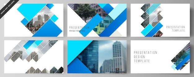 La mise en page abstraite des modèles d'affaires de diapositives de présentation