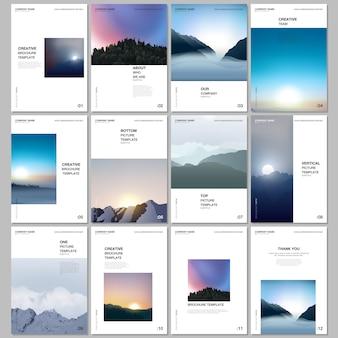 Mise en page de brochure a4 de modèles de couvertures pour dépliant, conception de brochure a4, présentation, magazine
