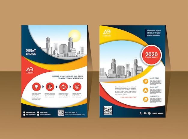 Mise en page de la brochure d'affaires