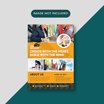 Mise en page de la brochure de construction d'entreprise