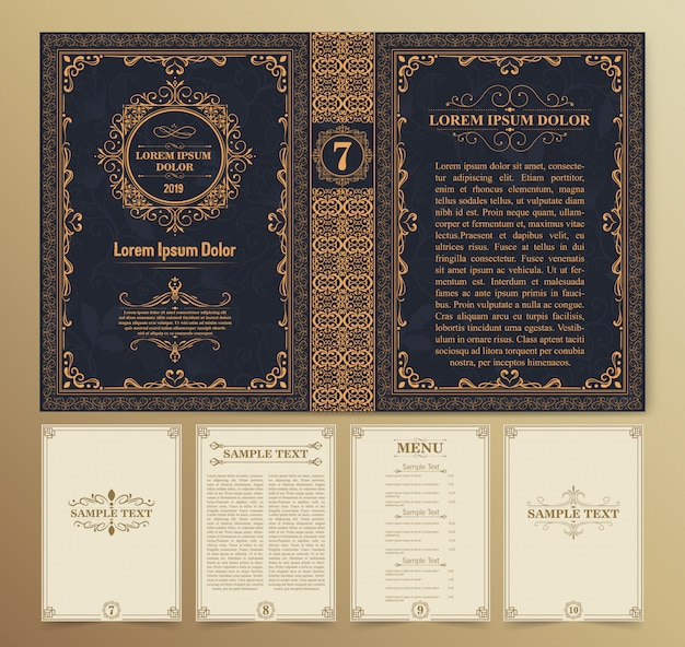 Mise en page et conception de livres vintage