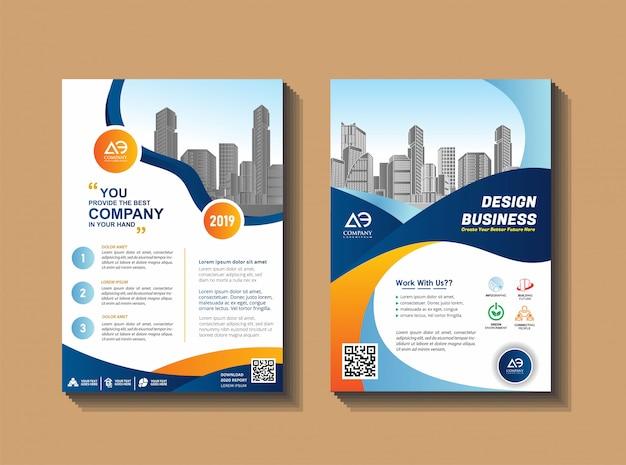 Mise en page de couverture pour événement d'entreprise et rapport
