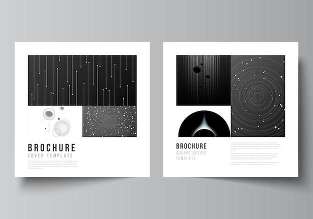 Mise en page de deux modèles de conception de couvertures de format carré