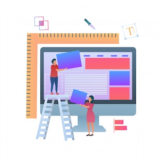 Mise en page du bâtiment web