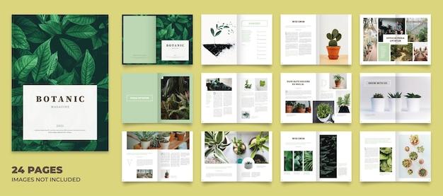 Mise en page du magazine botanique