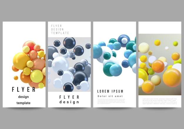 Mise en page de flyer, modèles de bannière pour la publicité sur site web