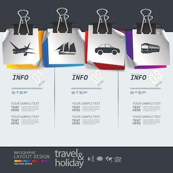 Mise en page graphique info pour modèle de voyage