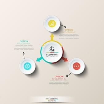 Mise en page infographique créative