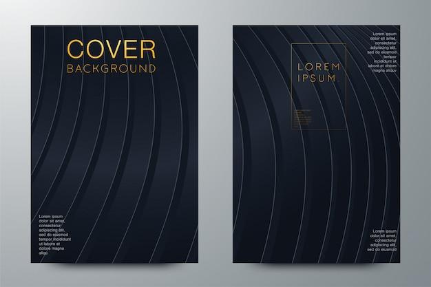 Mise en page de liant abstraite. couverture de brochure blanche