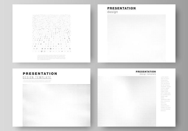 Mise en page des modèles d'affaires de conception de diapositives de présentation