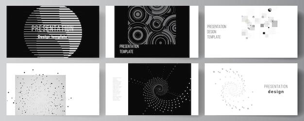 Mise en page des modèles commerciaux de conception de diapositives de présentation