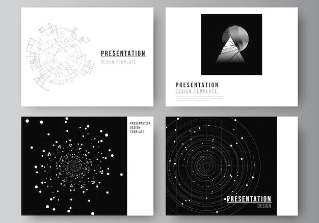Mise en page des modèles de conception de diapositives de présentation pour la présentation