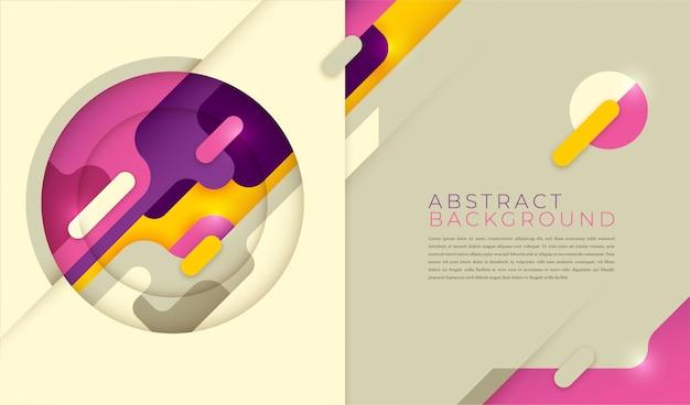 Mise en page moderne dans un style abstrait.