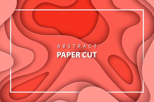 Mise en page de papier abstrait