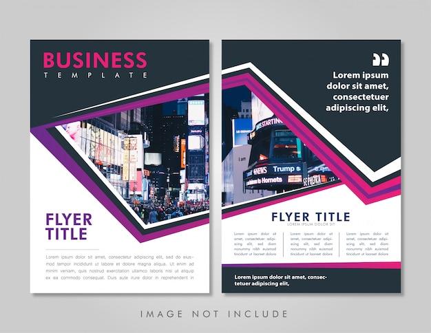 Mise en page transparente du dépliant d'affaires