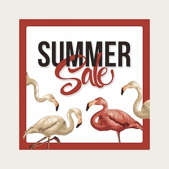 Mise en page de vente d'été
