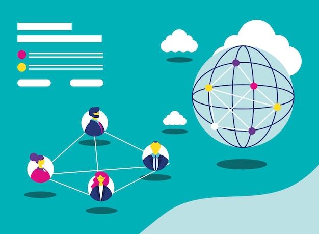 Mise en réseau et données mondiales