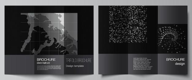 Mises en page de modèles de couvertures pour brochure à trois volets