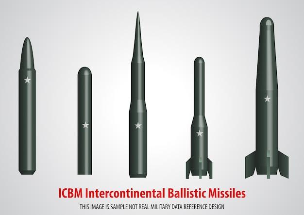 Missile balistique intercontinental (icbm) 3d