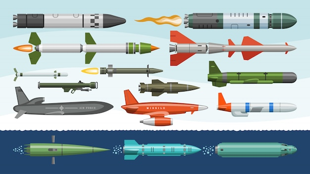 Missile missile militaire fusée arme et nu balistique