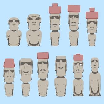 Moai est des figures humaines monolithiques