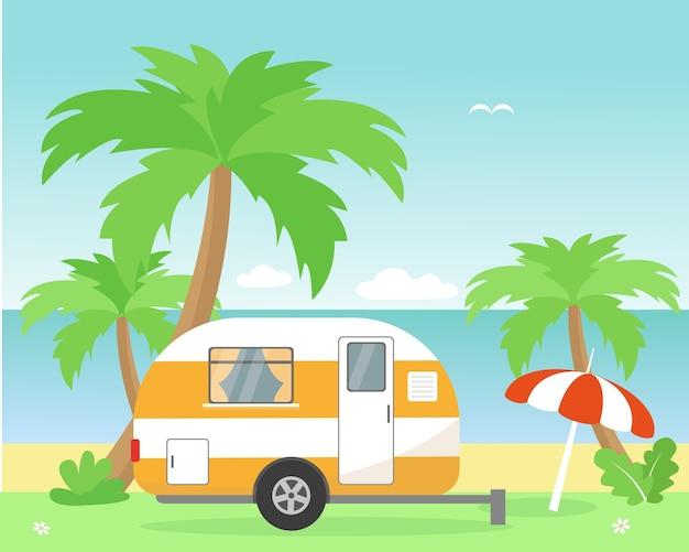 Mobile home ou roulotte de voyage