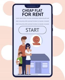 Mobile landing page avec la meilleure offre de location d'appartement